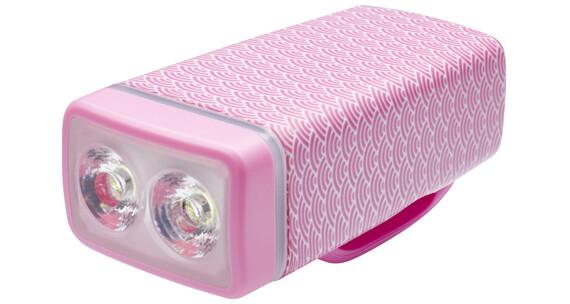 Knog POP ii Lampka rowerowa przednia białe LED różowy